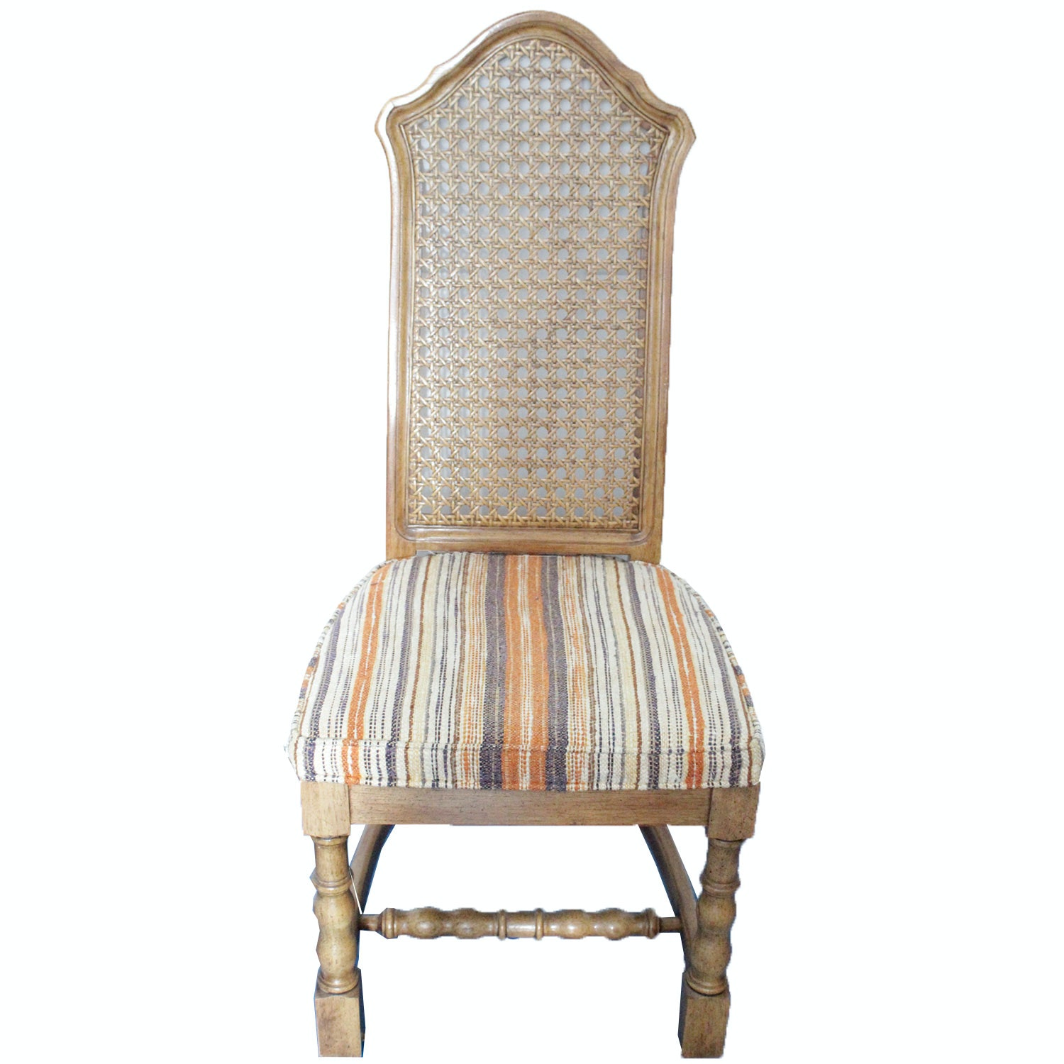 Four Vintage Drexel Heritage Cane Back Chairs ...