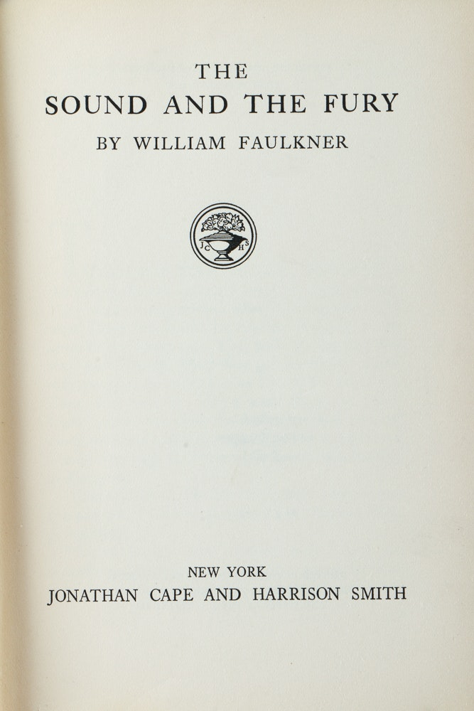 an analysis of the sound and the fury by william faulkner 1929 The sound and the fury by william faulkner william cuthbert falkner (he added the u to his last name in 1919) was born into a prominent southern family on september 25, 1897.
