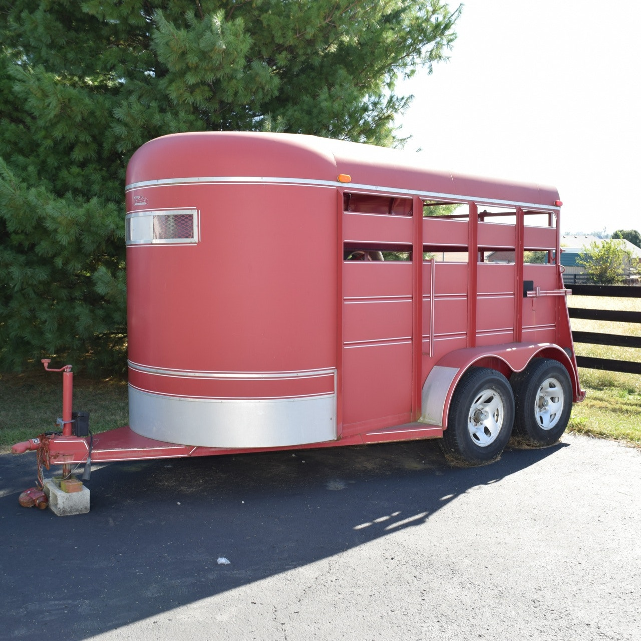 2003 Triple B&J Steel Stock Horse Trailer