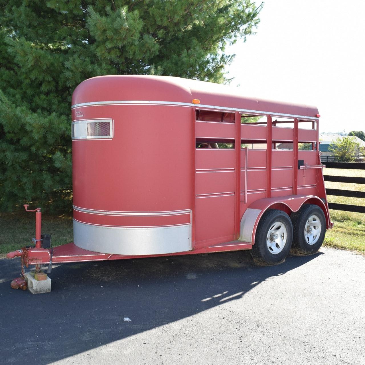 2003 Triple B&J Steel Stock Horse Trailer
