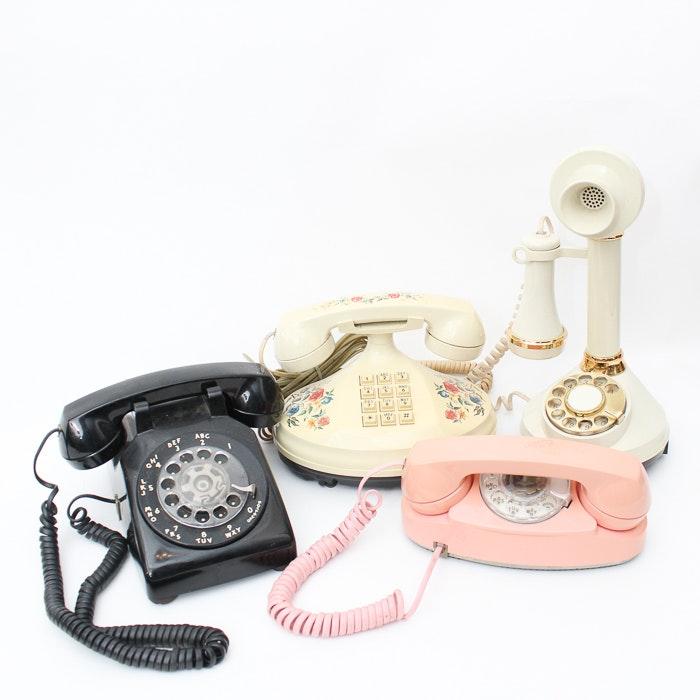 Variety of Vintage Telephones