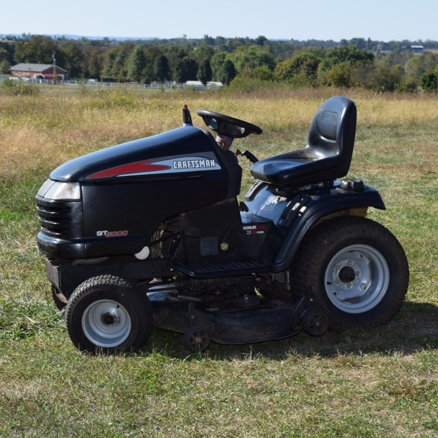 Craftsman Tractor Seats Replacement : Craftsman gt riding mower with pro hp kohler engine