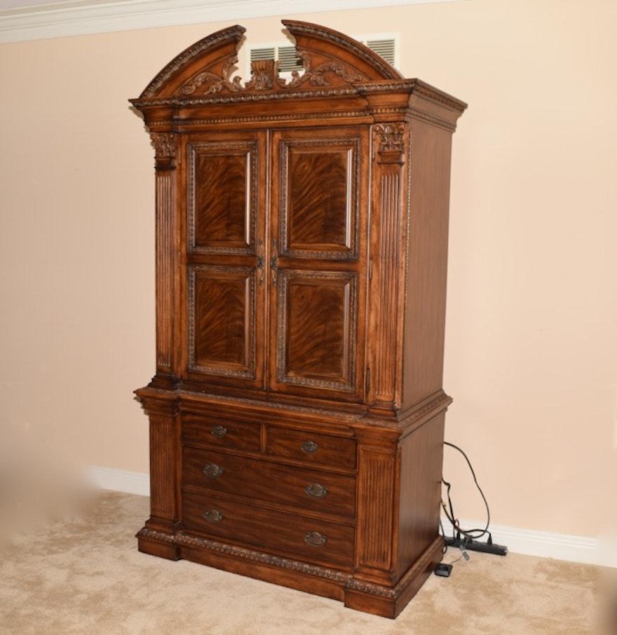 Universal Furniture Ornate Walnut Armoire : EBTH