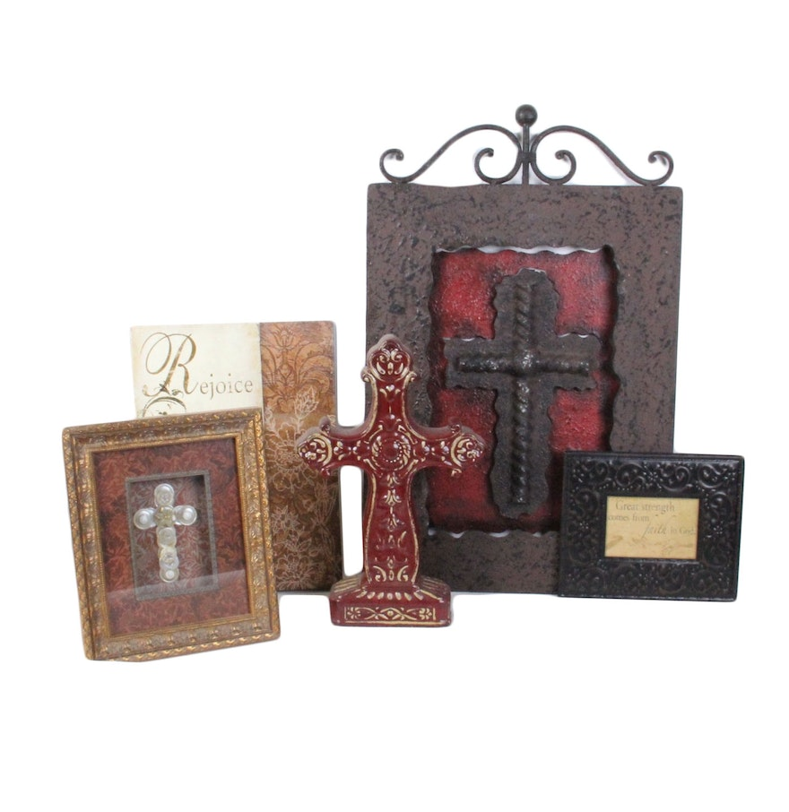 Christian decor 28 images amazing grace distressed for Cross decorations for home