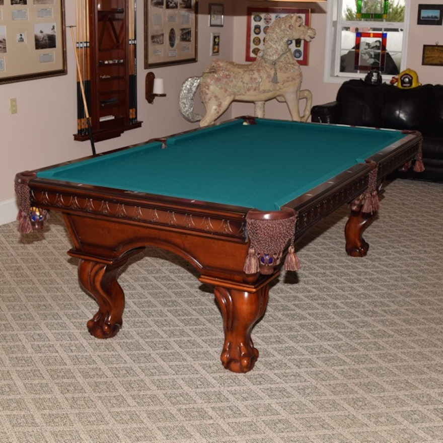 American Heritage Billiards Pool Table With Wall Mounted Equipment - American heritage billiards pool table