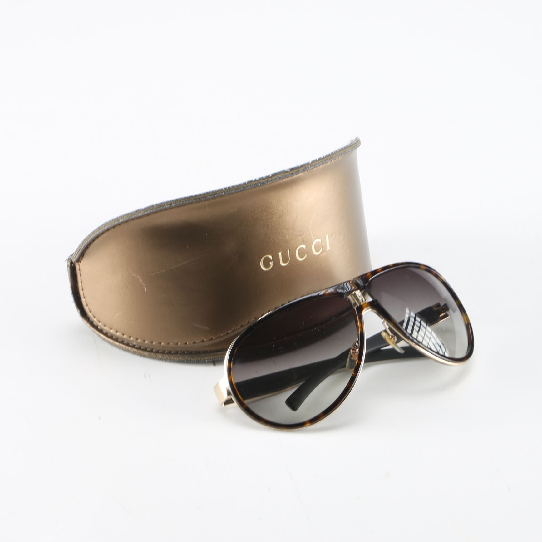 Tortoise Shell Pattern Detail Gucci Sunglasses