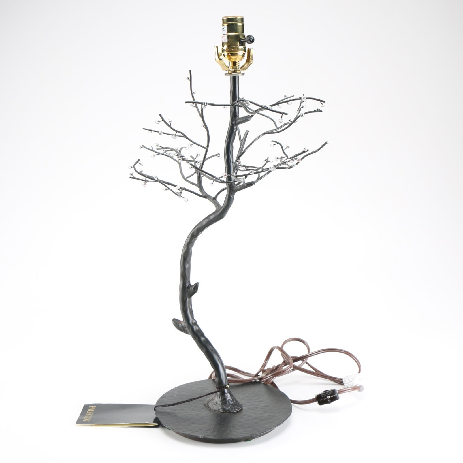 Palecek Lamp With a Sculptural Tree Form Base