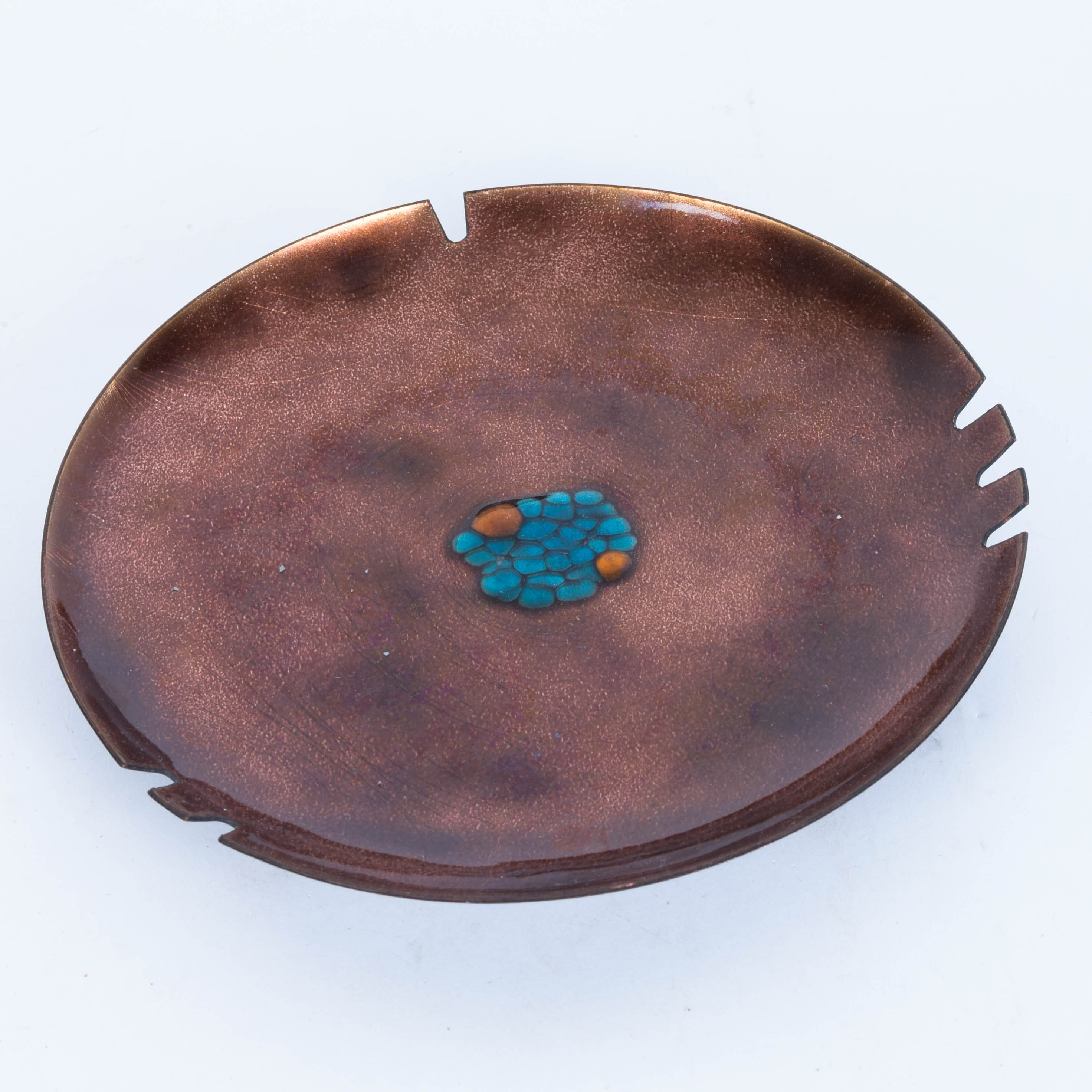 Copper and Enamel Ash Receiver