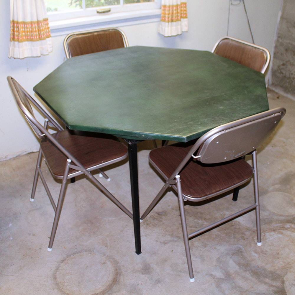 Norcor Card Table With Removable Game Top and Samsonite Folding