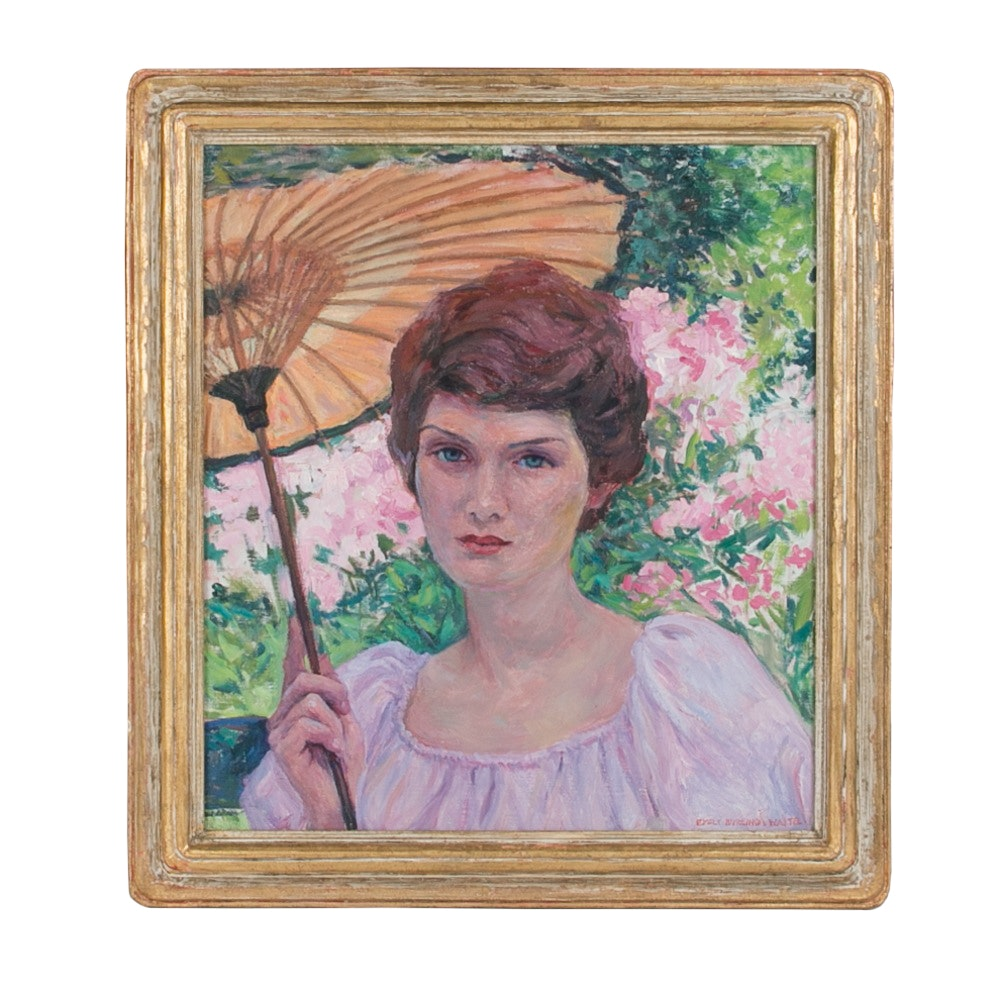 Emily B. Waite Woman with Parasol Oil on Canvas