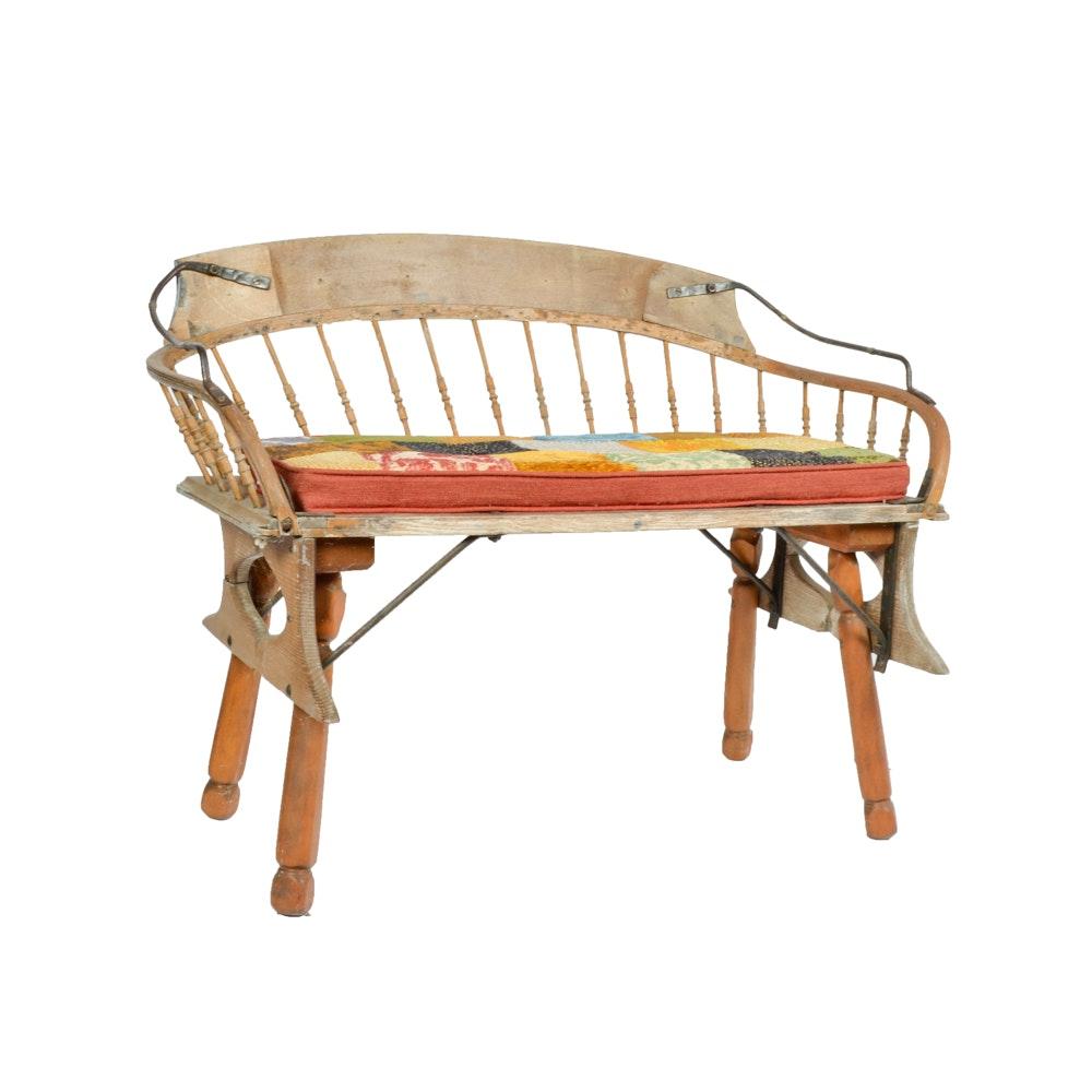 Antique Wagon Seat Bench