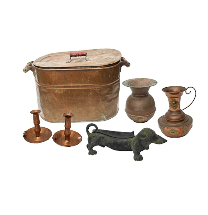 Collection Of Antique Copper Home Decor Ebth