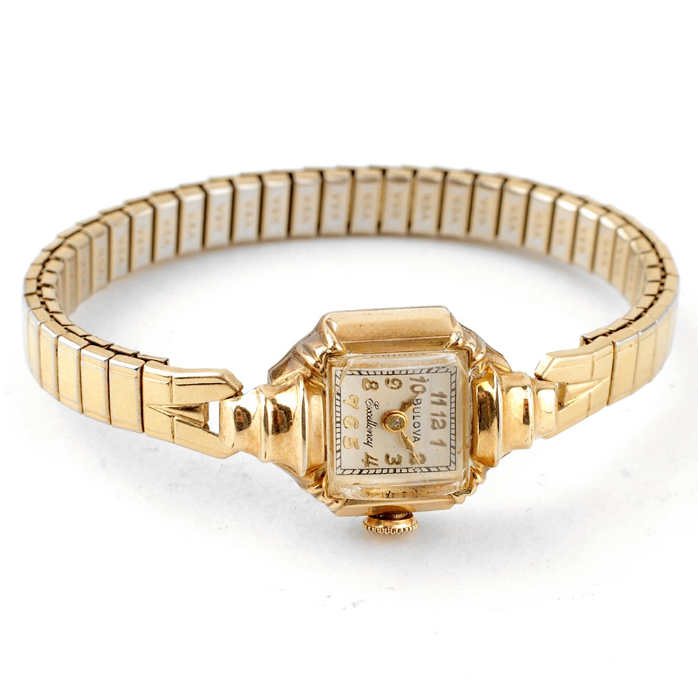 "Women's Vintage 10K Gold Filled Bulova ""Excellency"" Watch"