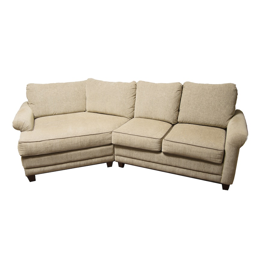Marshfield Furniture Living Room Sock Arm Loveseat With Cuddler Ebth