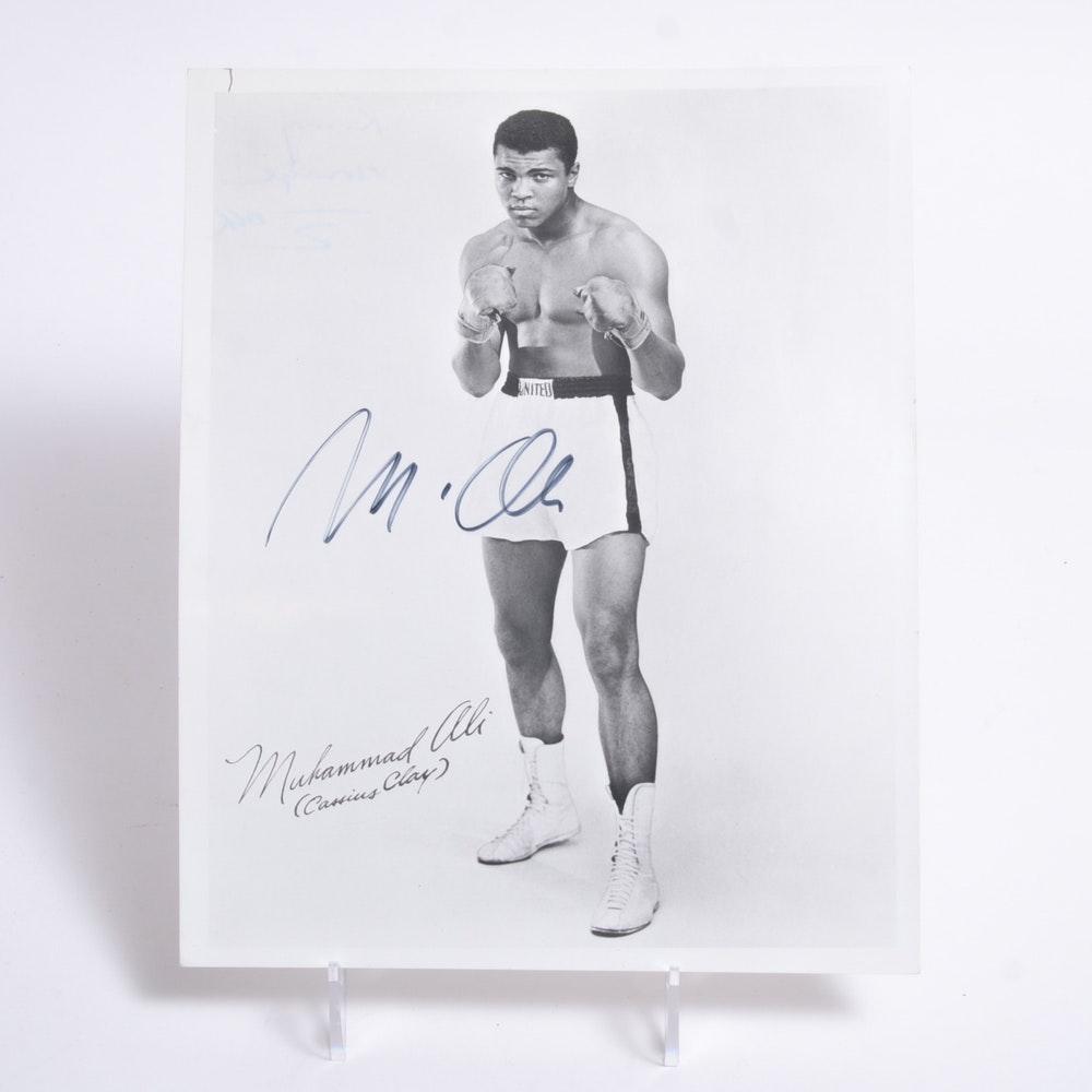 Signed Muhammad Ali Photograph