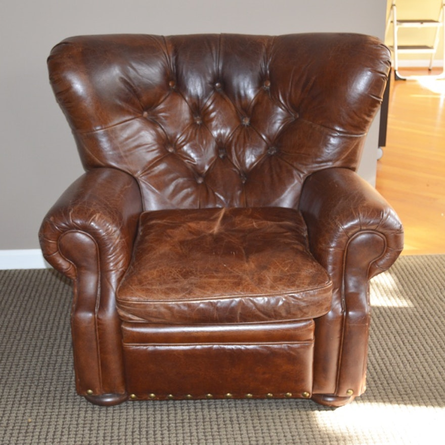 Wingback Leather Recliner from Restoration Hardware