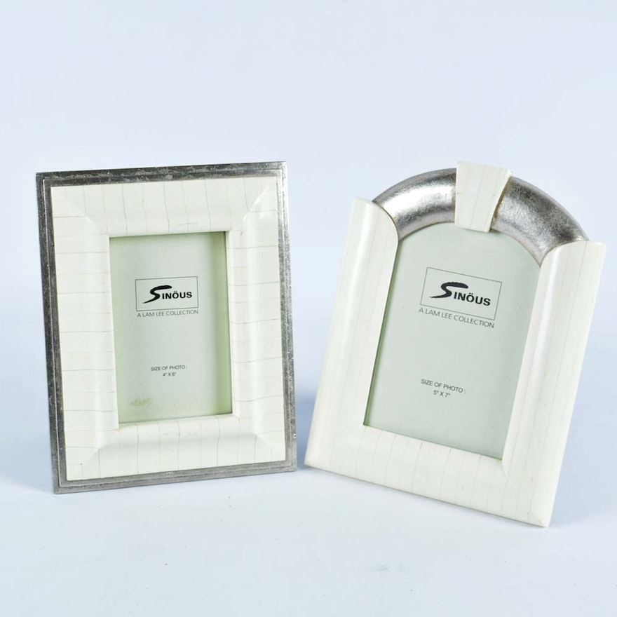 Pair Of Faux Ivory Picture Frames Ebth