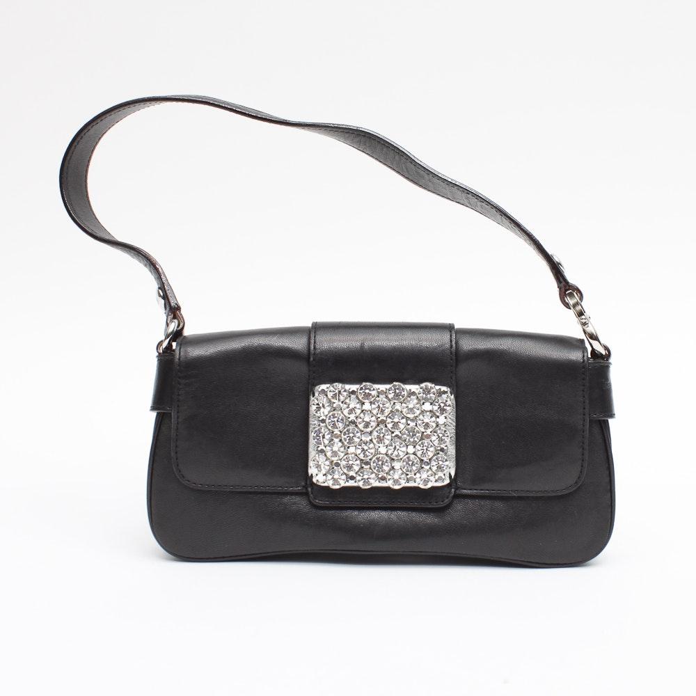 Kate Spade Black Leather Evening Bag