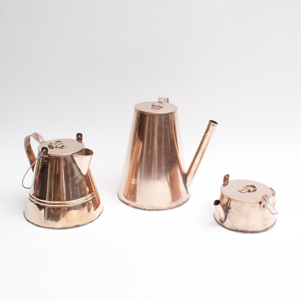 Vintage Copper Tea Pot Collection