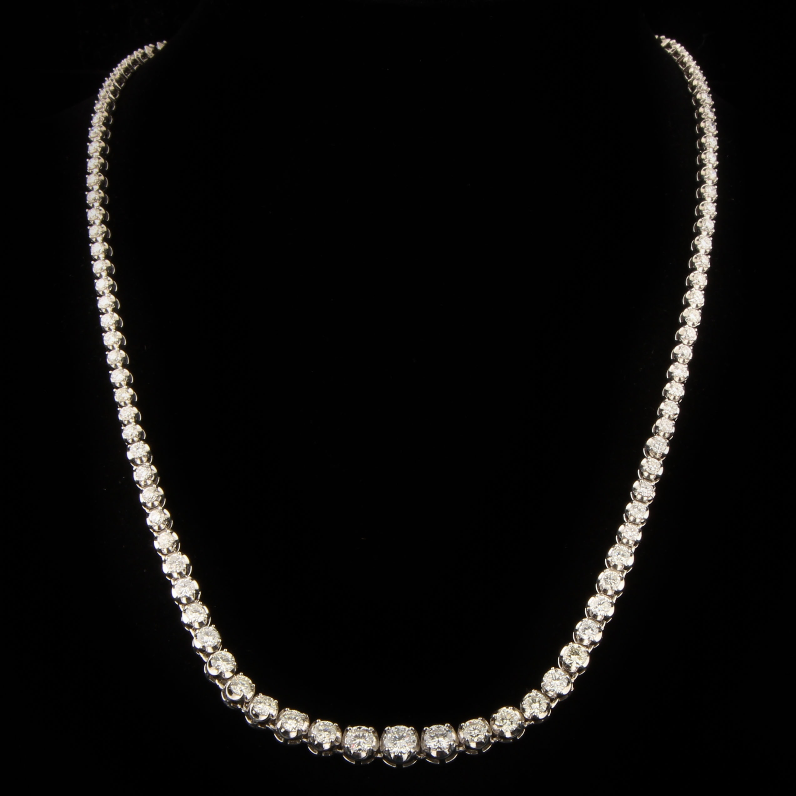 Platinum and 8.42 CTW Diamond Necklace