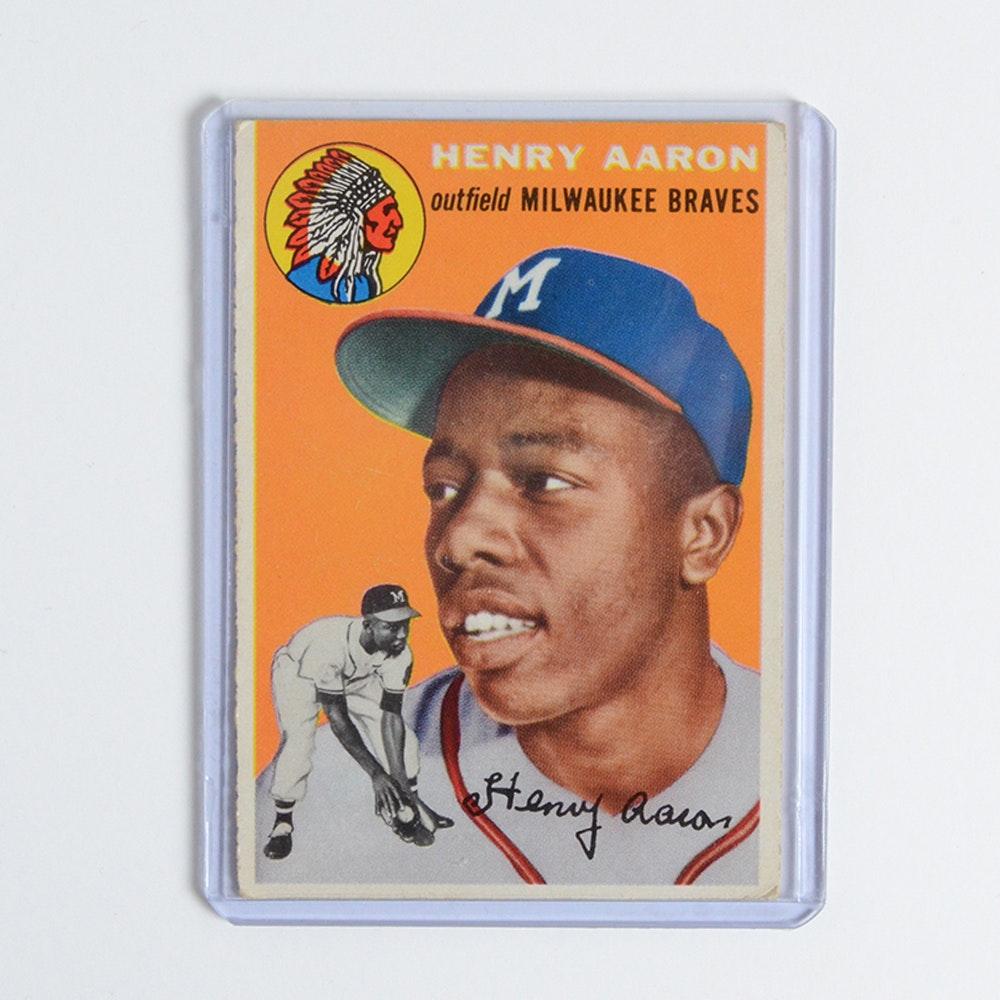 1954 Topps Hank Aaron #128 Baseball Card