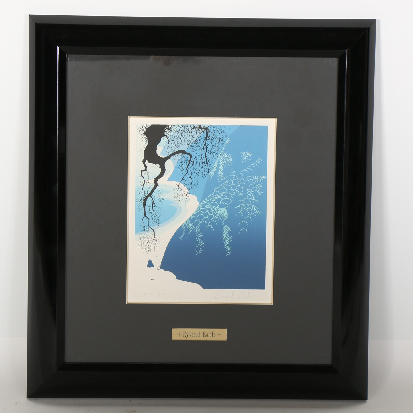 """Eyvind Earle Signed Limited Edition Serigraph """"Big Sur and Branch"""""""