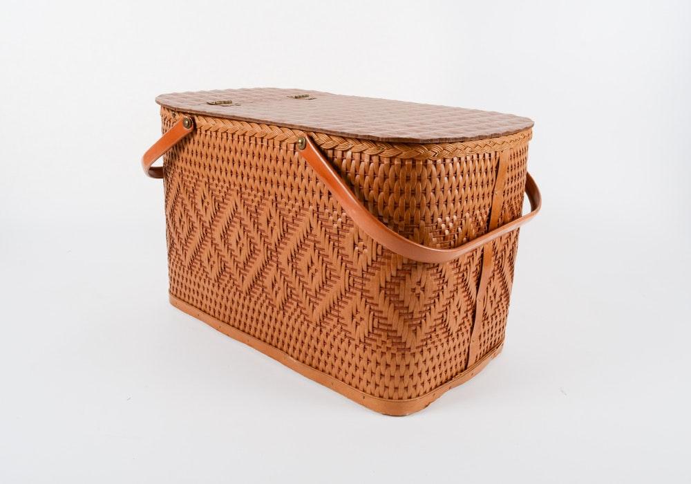 Large Picnic Basket and Base