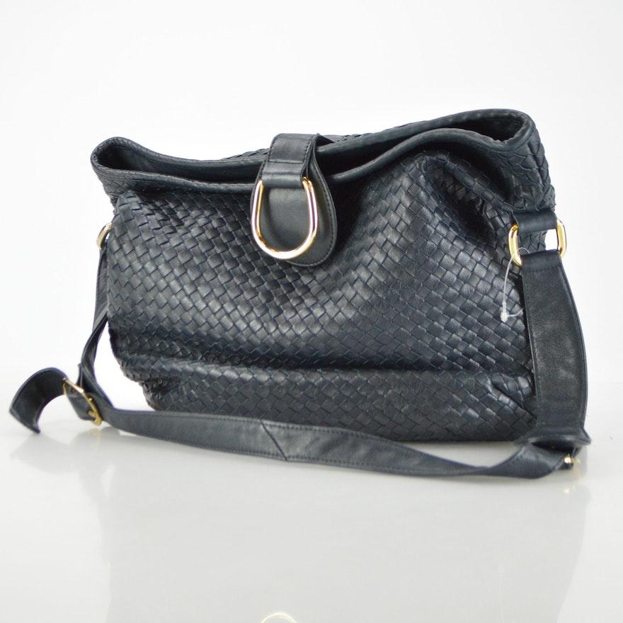 Vintage Ganson Woven Leather Bag