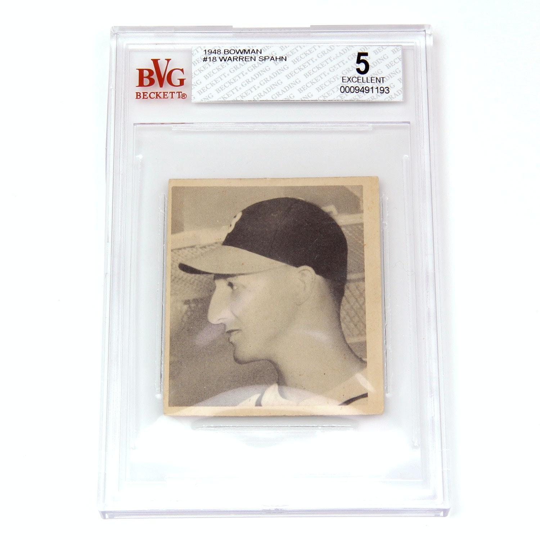 1948 Bowman Warren Spahn #18 Ex(5)
