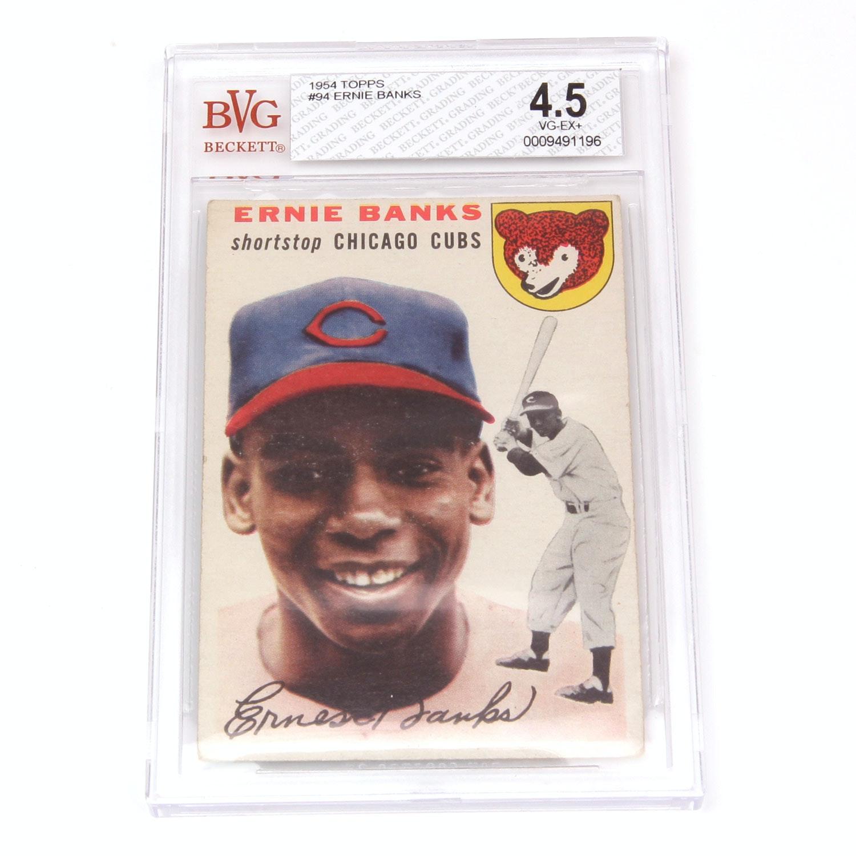 1954 Topps Ernie Banks #94 Rookie Card VG(4.5)