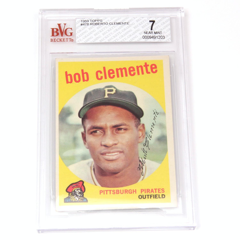 1959 Topps Roberto Clemente #478 NM(7)
