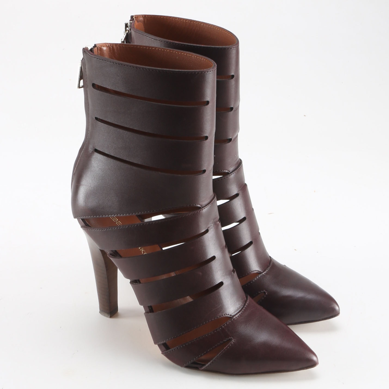 Rebecca Minkoff Derea Dark Brown Leather Booties