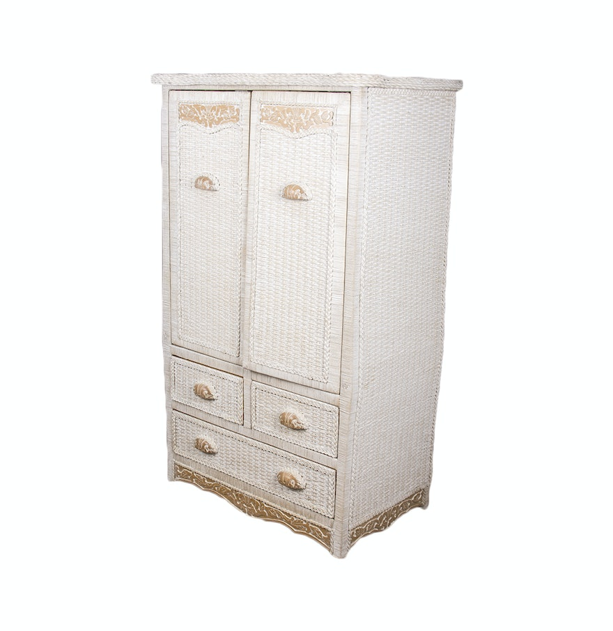 Pier 1 Imports Jamaica Collection Wicker Armoire ... - Pier 1 Imports Jamaica Collection Wicker Armoire : EBTH