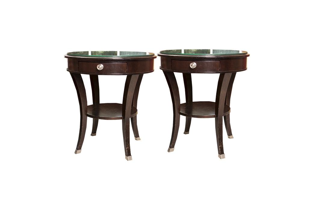 Bassett Furniture Round Side Tables