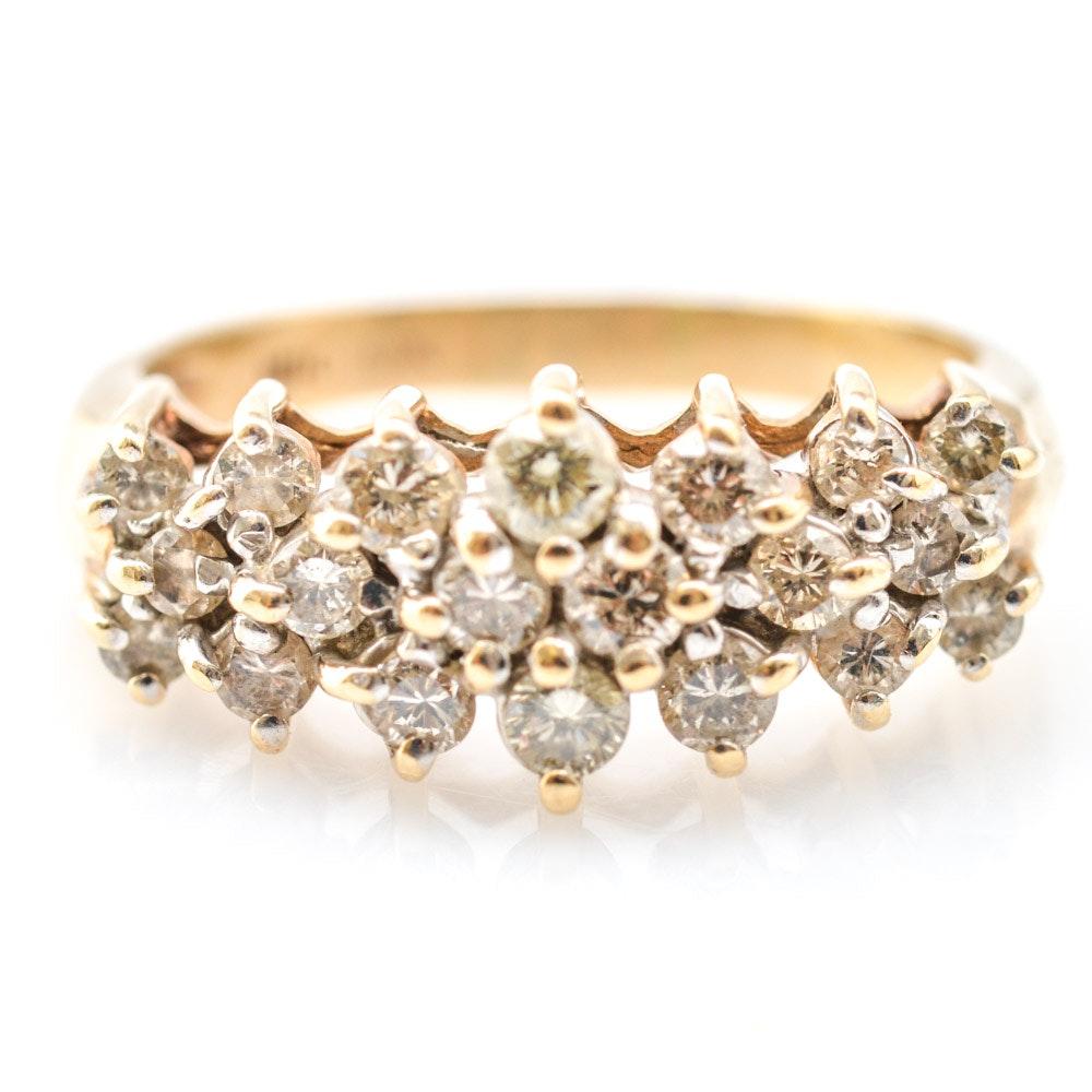 10K Yellow Gold and 1.00 CTW Diamond Ring