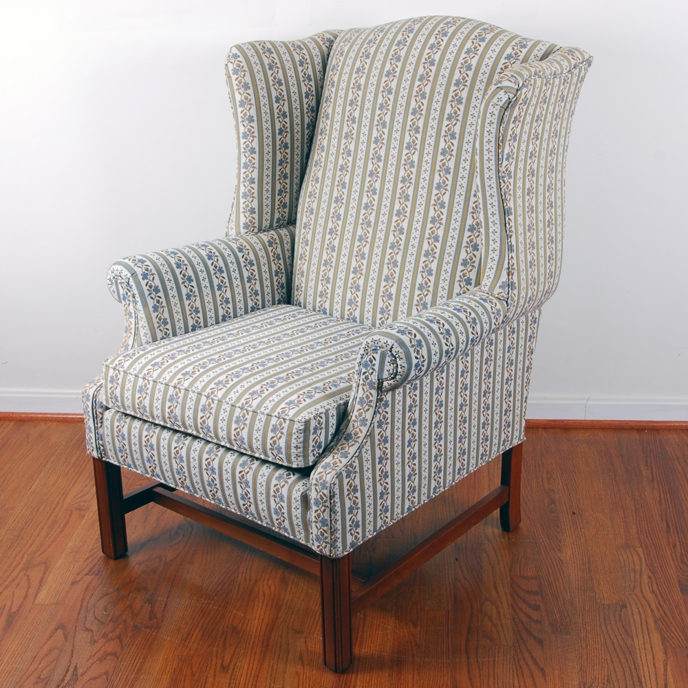 Ethan Allen Traditional Classic Wingback Chair ...