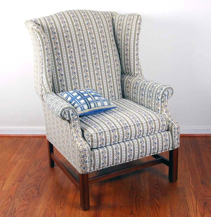 Ethan Allen Traditional Classic Wingback Chair Ebth