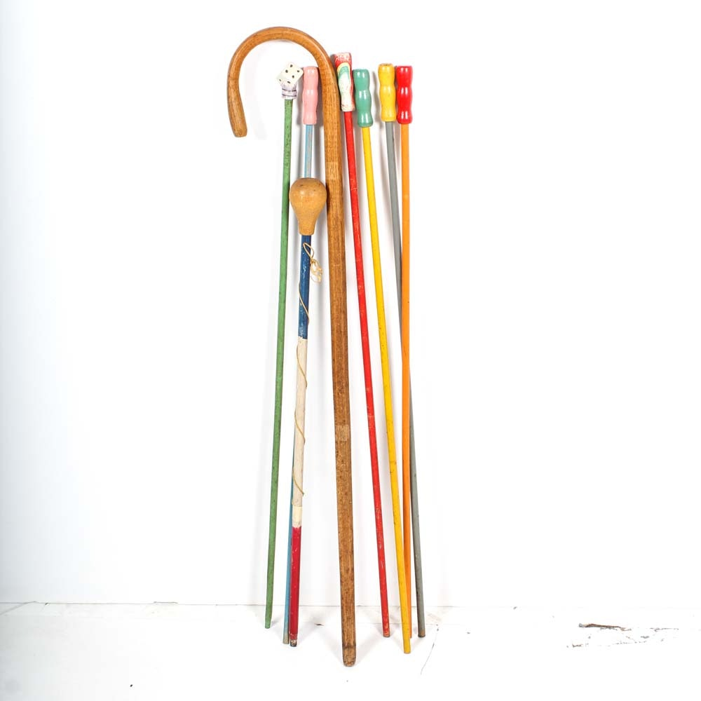Collection of Vintage Carnival Canes