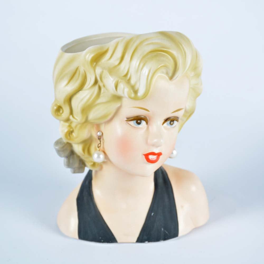 Marilyn Monroe Relpo Head Vase