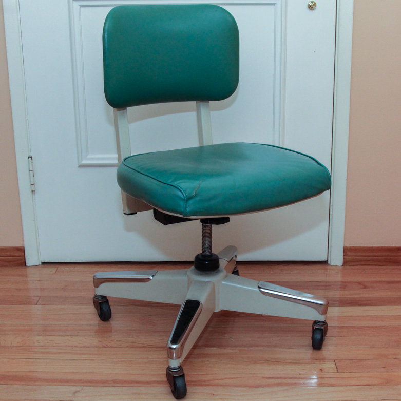 vintage metal office chair. vintage royal metal corporation office chair