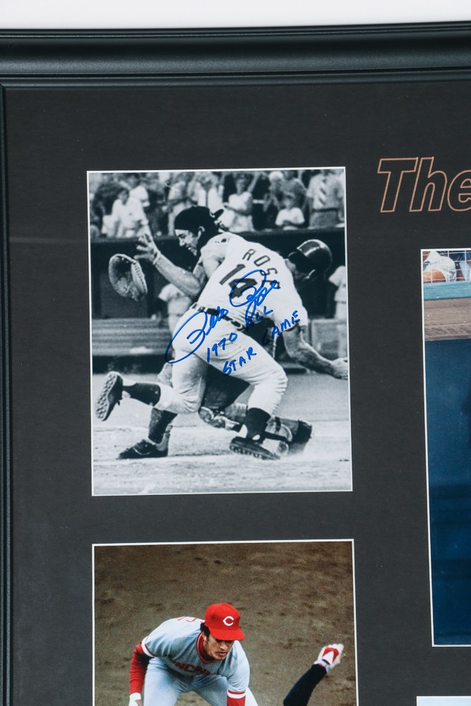 Framed Photos Signed By Ten Quot Big Red Machine Quot Players