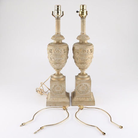 Washed Gold Tone Table Lamps