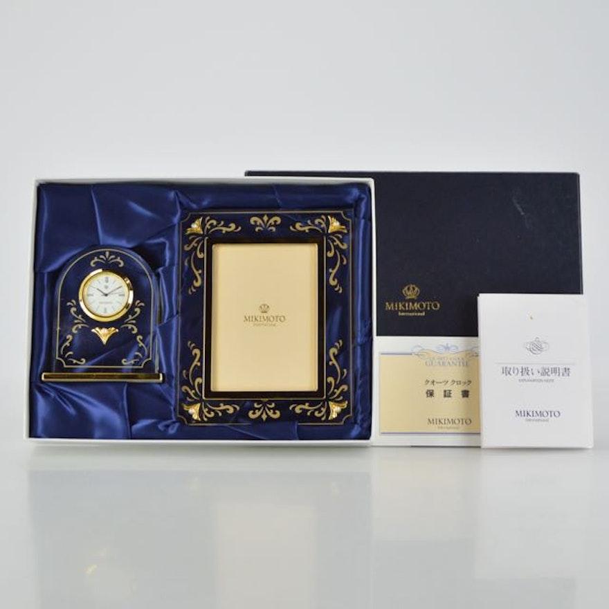 Mikimoto International Clock and Frame Set : EBTH