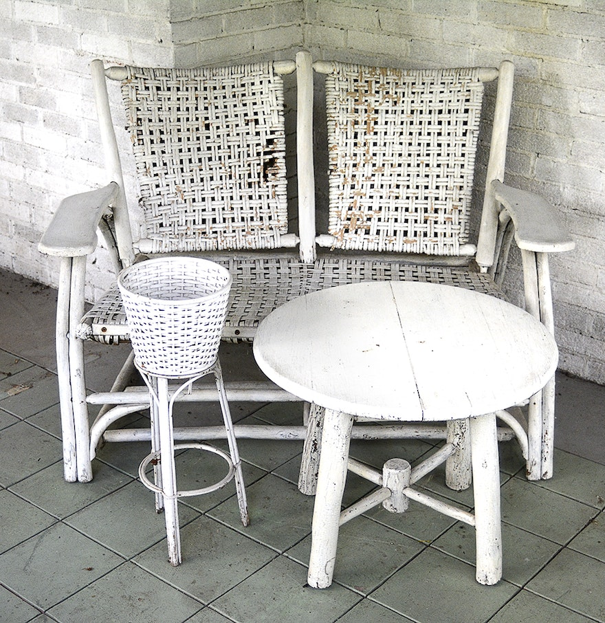 vintage wicker patio furniture ebth