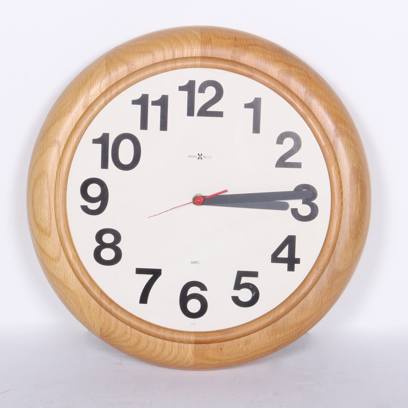 mid century howard miller wall clock