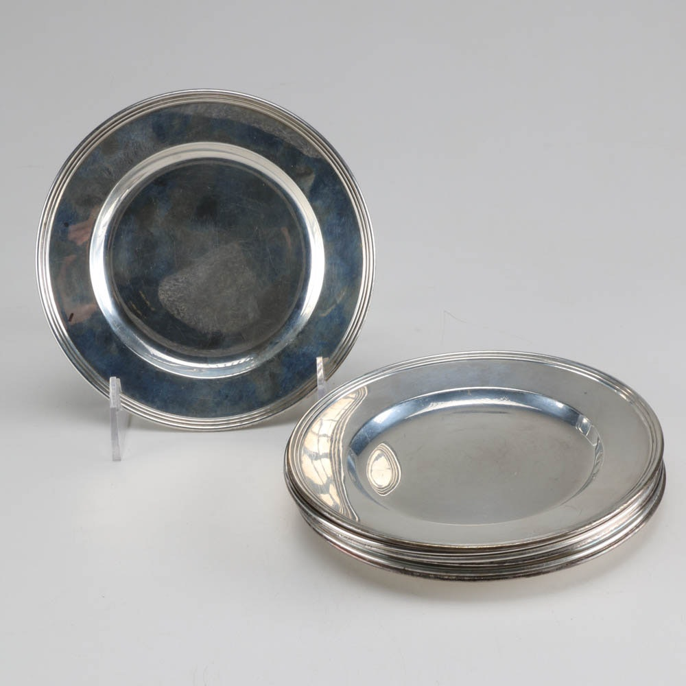 International Sterling Silver Bread and Butter Plates