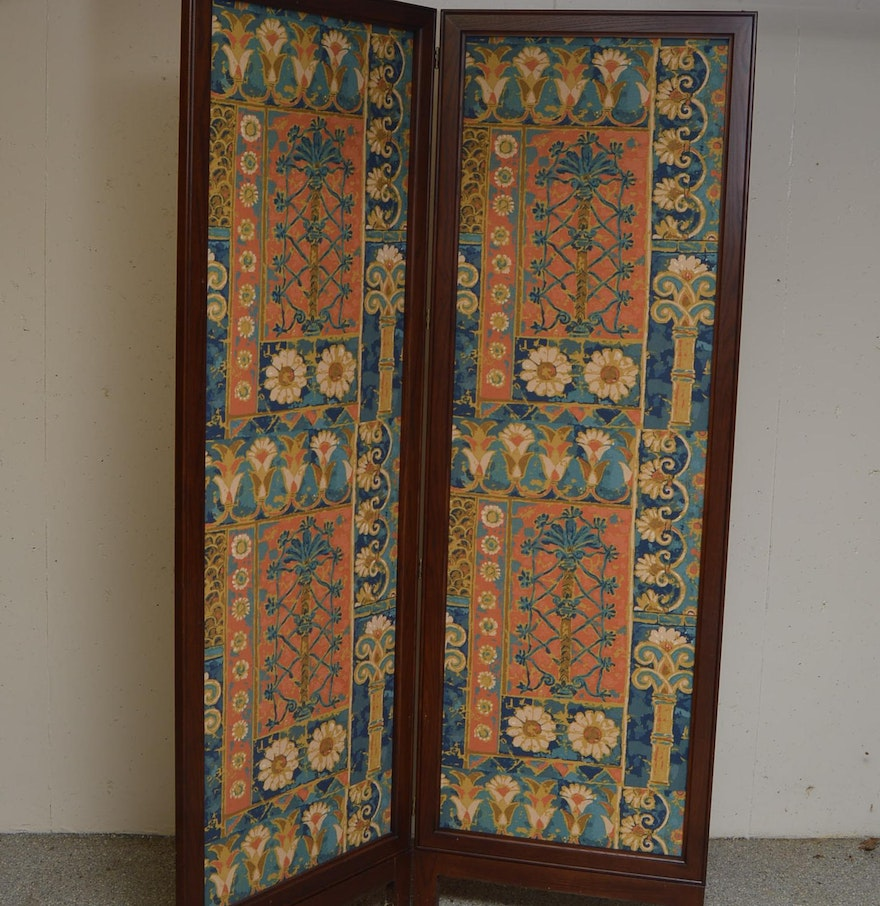 Https Www Ebth Com Items 4504227 Floral Hinged Room Divider