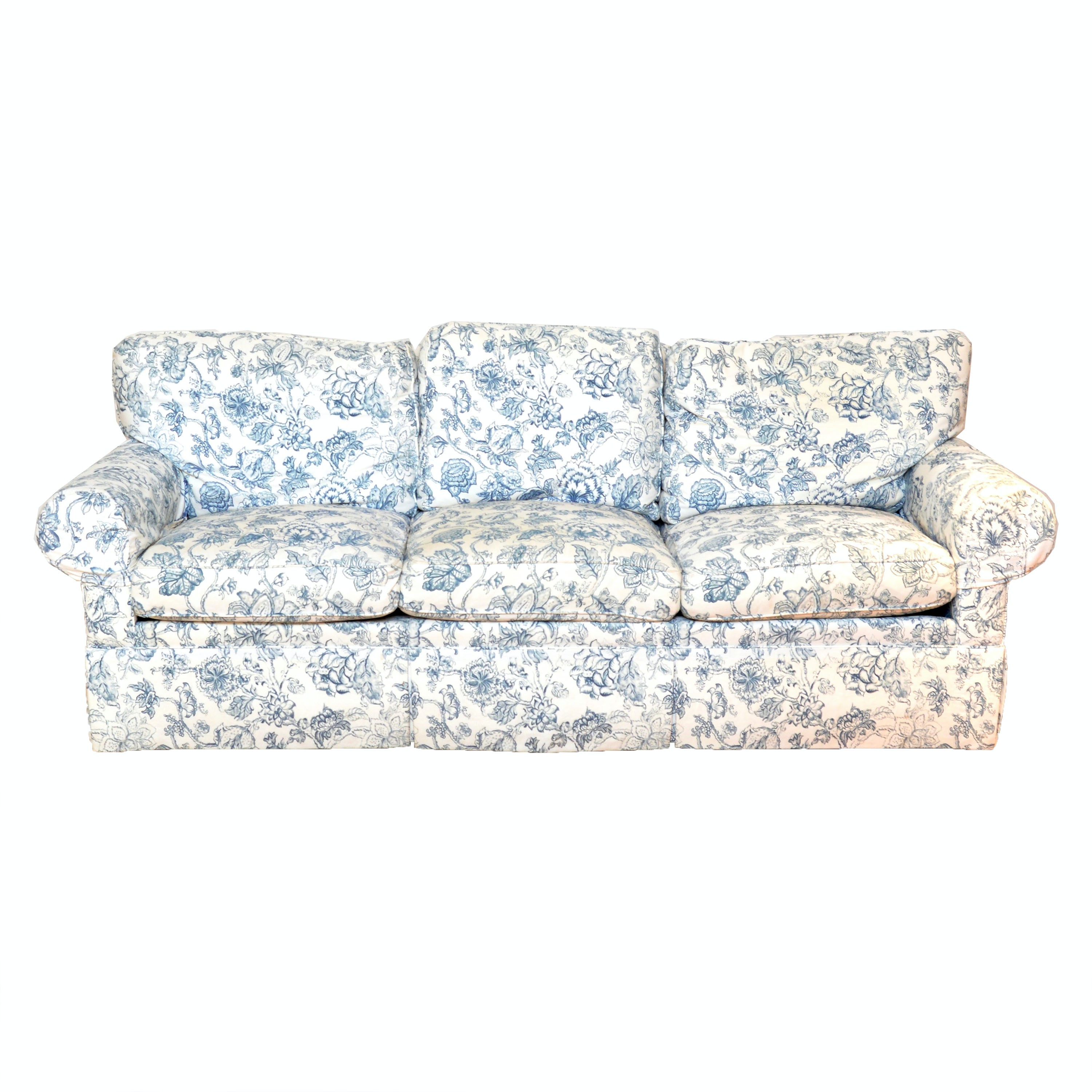 Plush Floral Sofa By Southwood Furniture ...