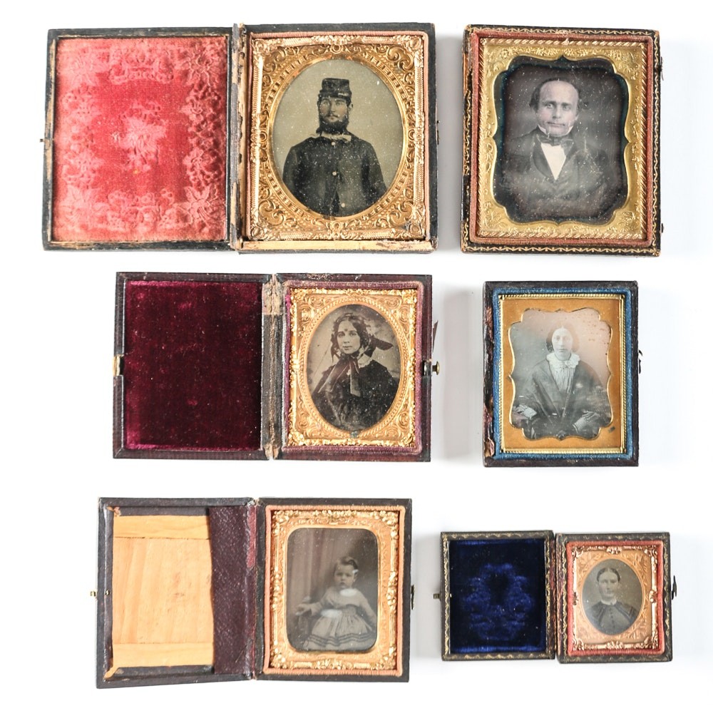 Civil War Era Photo Cases with Family Photos