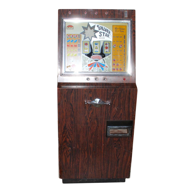 Vintage Silver Star Miami Slot Machine